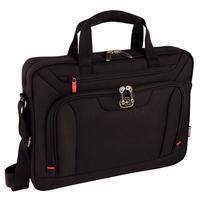 """Wenger/SwissGear laptoptas: INDEX 16"""" Laptop Slimcase with Tablet / eReader Pocket, Black - Zwart"""