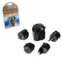 2-Power stekker-adapter: Universal Travel Adapter - Zwart