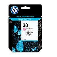 HP inktcartridge: 38 originele licht-magenta inktcartridge - Lichtmagenta