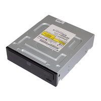 HP SATA DVD-ROM 16X SMD nonLS optical drive (Jack Black color) brander - Zwart