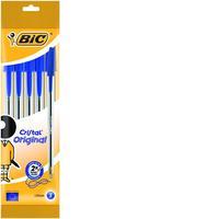 BIC pen: Cristal, 1.0mm, blue - Transparant