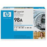 HP toner: 98A - Zwart