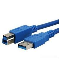 MediaRange USB kabel: 1.8m, USB2.0-A - USB2.0-B - Blauw