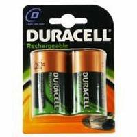 Duracell batterij: Rechargeable D Size 2 Pack - Zwart, Goud
