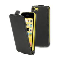 Muvit mobile phone case: Smooth black slim case for iPhone 5C - Zwart
