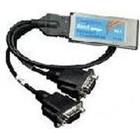 Brainboxes interfaceadapter: ExpressCard 2 Port RS422/485 - Zwart, Zilver