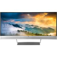 HP monitor: EliteDisplay S340c - Zwart, Zilver