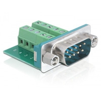 DeLOCK kabel connector: Sub-D 9-p M - Groen, Zilver