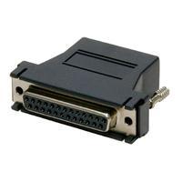Digi kabel adapter: 1 x DB-25 Female, Black, 8 Pack - Zwart