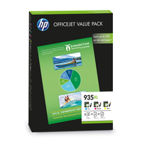 HP inktcartridge: 935XL Office value pack, 75 vel/A4/210 x 297 mm - Cyaan, Magenta, Geel