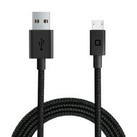 Nonda 1.2m, USB Micro-B/USB-A USB kabel - Zwart