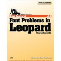TidBITS Publishing algemene utilitie: TidBITS Publishing, Inc. Take Control of Font Problems in Leopard - eBook (EPUB)