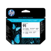 HP printkop: 91 fotozwarte en lichtgrijze printkop - Grijs, Foto zwart