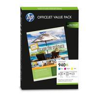 HP inktcartridge: 940XL Officejet brochure value pack, 100 vel/210 x 297 mm - Cyaan, Magenta, Geel