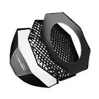 Walimex camera kit: pro Octagon Softbox PLUS Orange Line 45 - Zwart, Goud, Zilver, Wit