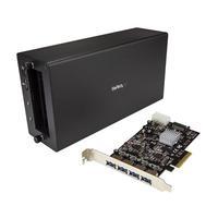 StarTech.com Thunderbolt 3 naar PCIe USB 3.1 adapter chassis en 4 poorts kaart Docking station - Zwart
