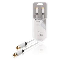 König coax kabel: KNS41000W10 - Wit