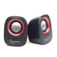 Gembird Speaker: RMS 2 x 3W, 150-20000Hz, 32 ohms - Zwart, Rood