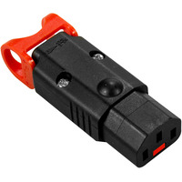 IEC LOCK + C13 Rewireable connector Elektrische fitting koppelaar - Zwart,Rood