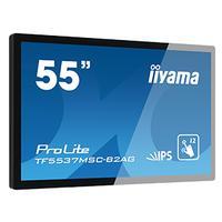 "Iiyama touchscreen monitor: ProLite 139.7 cm (55 "") , Full HD LED, IPS 1920 x 1080 px, 420 cd/m², 1100 : 112 ms, VGA, ....."