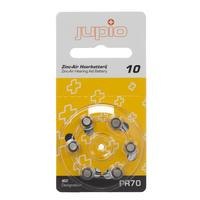 Jupio batterij: Hearing Aid 10 Zinc Air Yellow PR70, 6 pcs