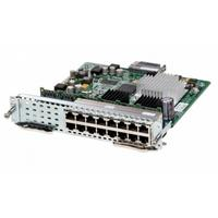 Cisco netwerk switch module: SM-X EtherSwitch SM, Layer 2/3 switching, 16 ports GE, POE+ capable, Spare