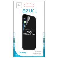 Azuri screen protector: Duo screen protector Privacy voor Apple iPhone 6 Plus - Transparant