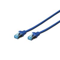 Digitus netwerkkabel: 1m Cat5e SF/UTP - Blauw