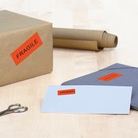 HERMA etiket: Coloured labels A4 105x42.3 mm red paper matt 280 pcs. - Rood