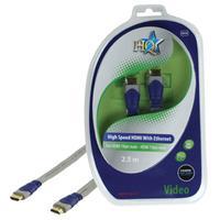 HQ HDMI kabel: SV-410-2.5 - Blauw, Grijs
