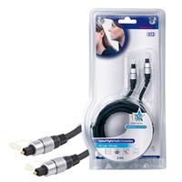 HQ : HQSS4623/2.5 - Optical Fiber cable, 2.50 m, black - Zwart