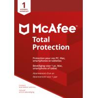 McAfee algemene utilitie: Total Protection 2018, 1 Device (Dutch / French)