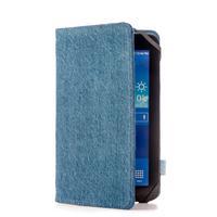 Azuri tablet case: denim book case met standfunctie, jeans blauw, voor alle 8