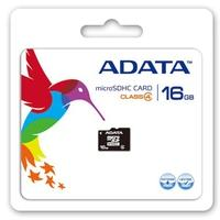 ADATA flashgeheugen: 16GB microSDHC - Zwart