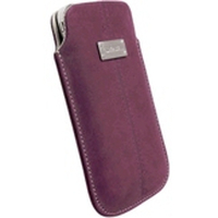 Krusell Luna Mobile Leather Pouch Mobile phone case - Paars