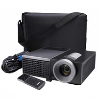 DELL projectorkoffer: Draagtas van zacht materiaal voor de 4610X Wireless PLUS Projector - Zwart