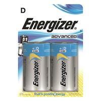 Energizer batterij: Alkaline, 2 Batteries, D - Blauw, Zilver