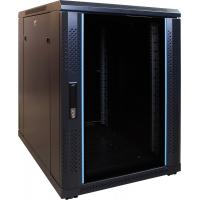 DS-IT 15U mini serverkast met glazen deur 600x800x770mm (BxDxH) Stellingen/racks