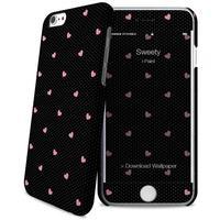 I-Paint mobile phone case: Sweety - Zwart, Roze