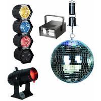 Bigben Interactive : compleet party discopakket met discobal, LED lichten, en stroboscoop, schijnwerper