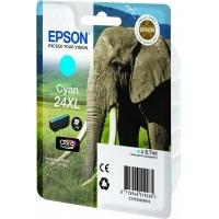 Epson inktcartridge: Singlepack Cyan 24XL Claria Photo HD Ink - Cyaan