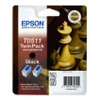 Epson inktcartridge: Dubbelpack Black T0511 - Zwart