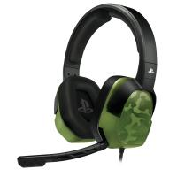 Afterglow koptelefoon: - LVL 3 Wired Stereo Headset (Groen Camo)  PS4