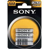 Sony Koolstofzinkbatterijen, AAA-formaat, blisterverpakking van 4 stuks (R03NUB4A)