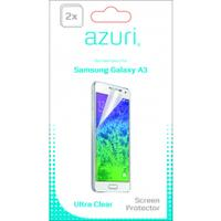 Azuri screen protector: Duo screen protector voor Samsung Galaxy A3 - Transparant