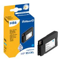 Pelikan inktcartridge: Single Pack H86 ersetzt HP951XL cyan 17ml - Cyaan