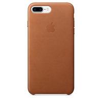 Apple mobile phone case: Leren hoesje voor iPhone 7 Plus - Zadelbruin