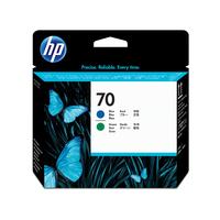 HP printkop: 70 blauwe en groene DesignJet printkop - Blauw, Groen