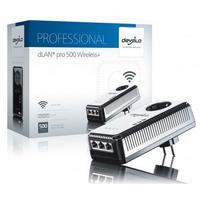 Devolo powerline adapter: dLAN pro 500 Wireless+ Single Adapter - Zwart, Zilver