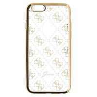 GUESS mobile phone case: 4G - Roze, Transparant
